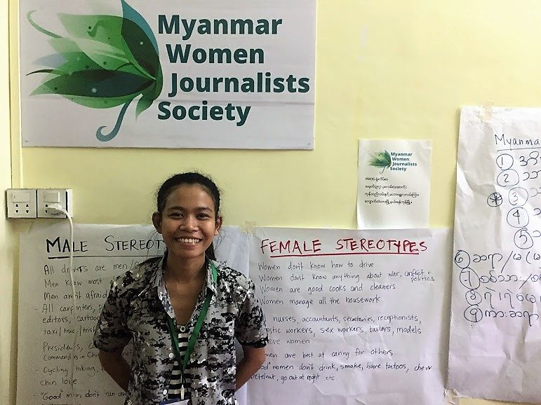 Female journalists Myanmar